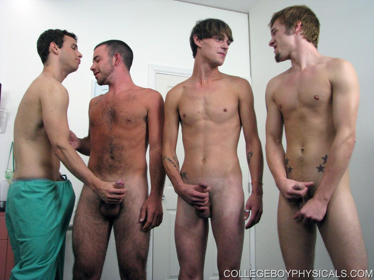 Groups of naked guys